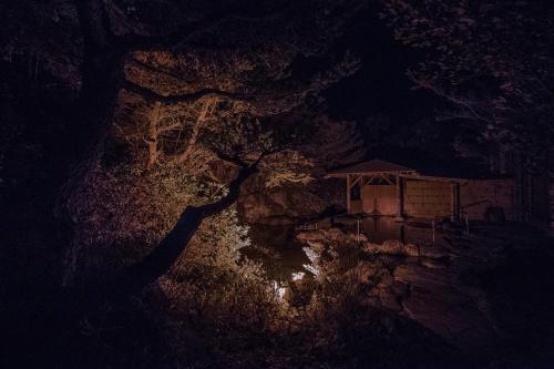 大浴場露天風呂温泉撮影スタジオ night (4)