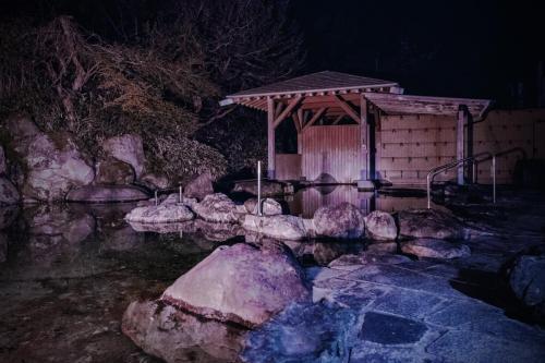 大浴場露天風呂温泉撮影スタジオ night (5)